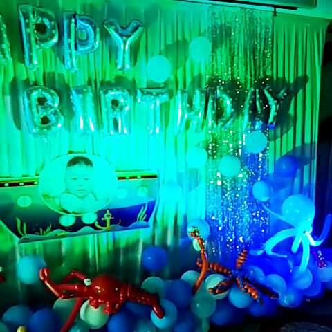 孙一铭海洋主题生日派对——热线:15266158835娟娟