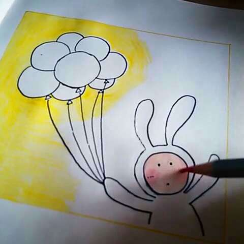 幼儿园画画兔子比赛作品
