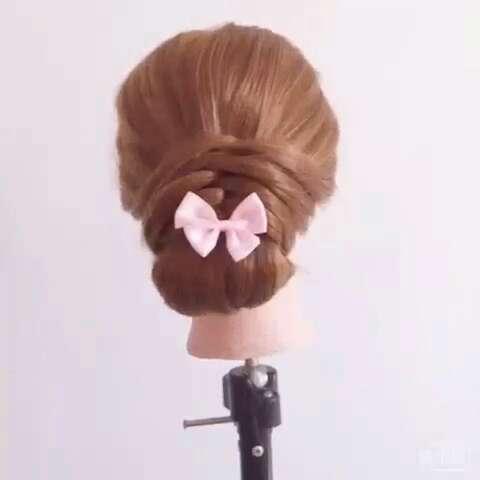 发型#简单粗暴好学的新娘敬酒发型
